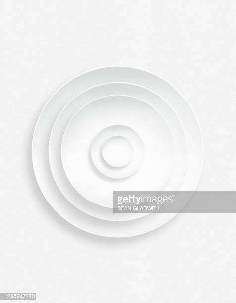 white paper circles - white stock pictures, royalty-free photos & images