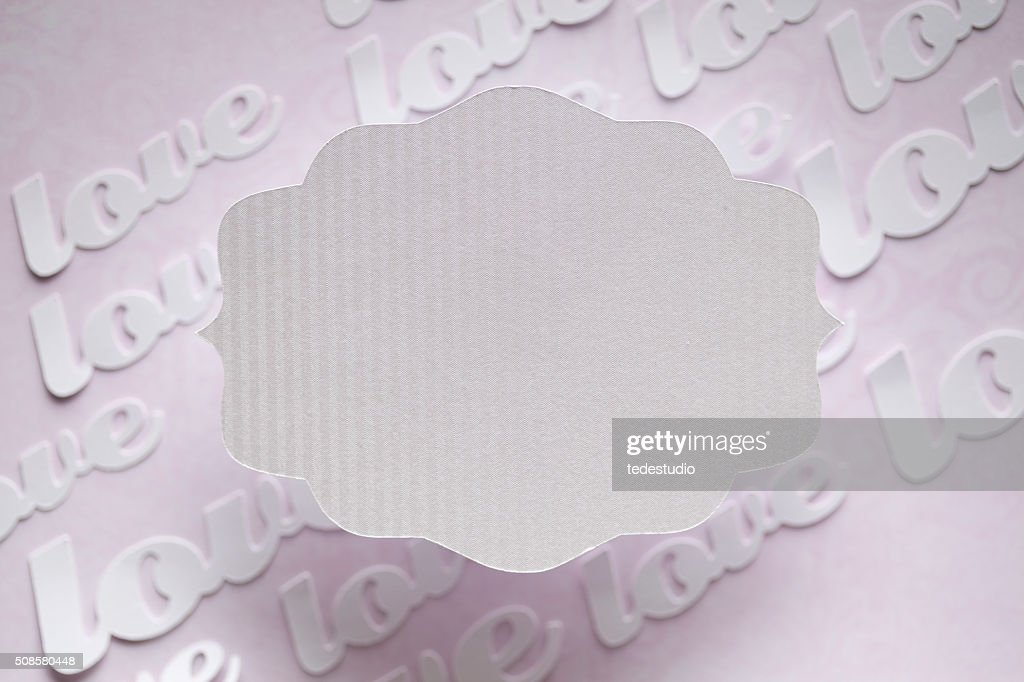 White paper label on abstract background : Stock Photo