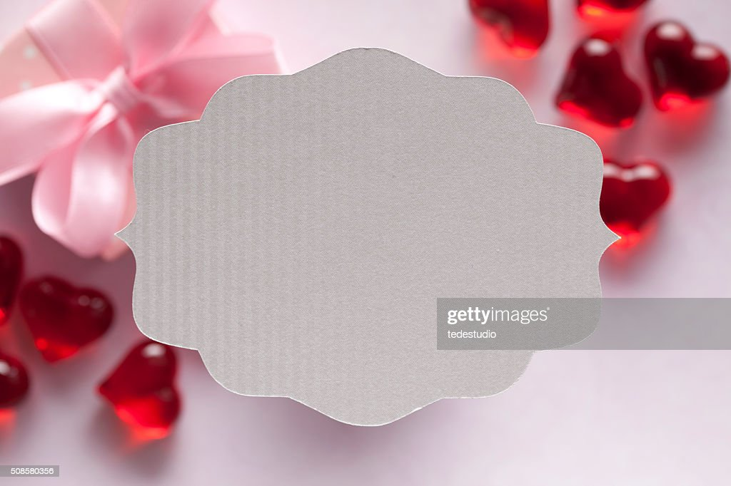 White paper label : Stock Photo