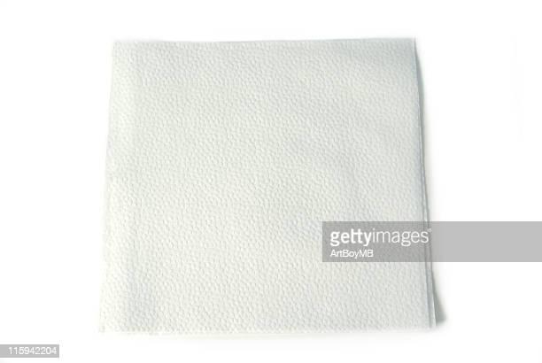 Weißem Papier Serviette
