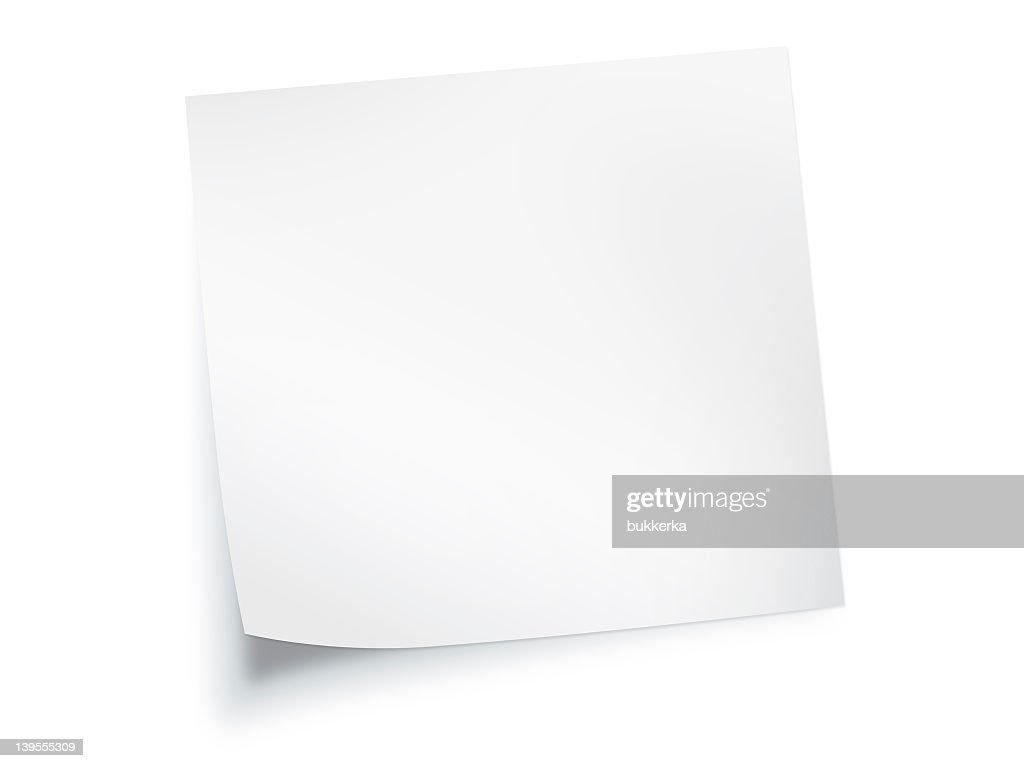white paper note background : Stock Photo