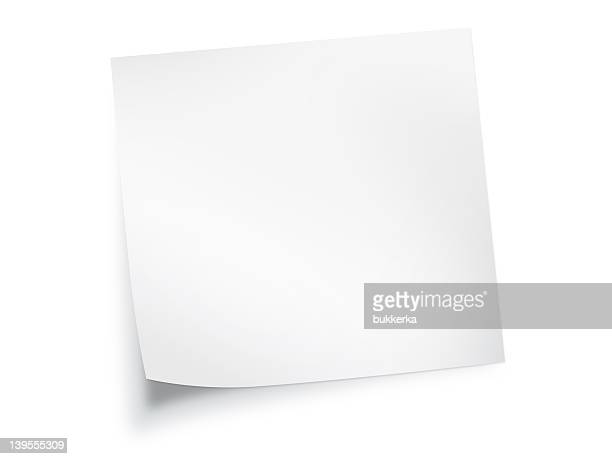white paper note background - category:pages stock pictures, royalty-free photos & images