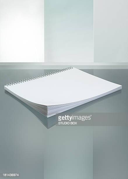 White paper notebook sketchbook
