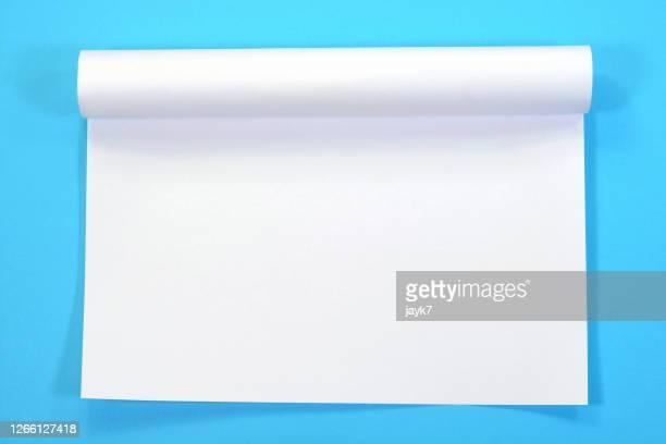 white paper - クルクルと巻いた ストックフォトと画像