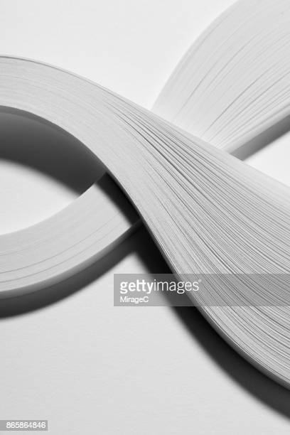 White Paper Stripes Abstract
