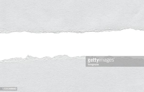 white paper tears - rough stock pictures, royalty-free photos & images
