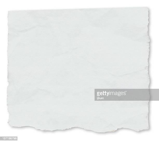 laceração-jornal isoladas em branco - ferro velho imagens e fotografias de stock