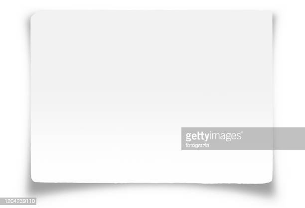 white paper with clipping path - greeting card stock pictures, royalty-free photos & images