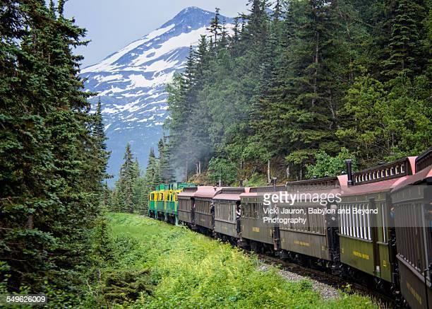 White Pass and Yukon Railroad in Skagway Alaska