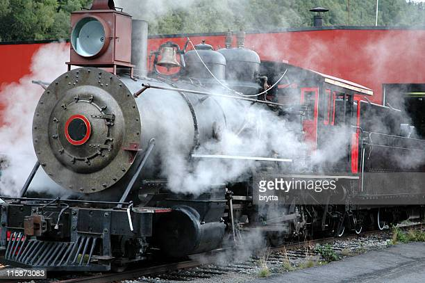 White Pass Railroad steam engine,Skagway,Alaska.