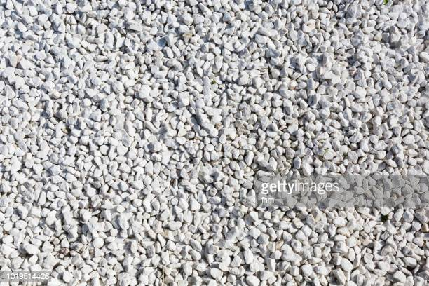 white pebbles - gravel stock pictures, royalty-free photos & images