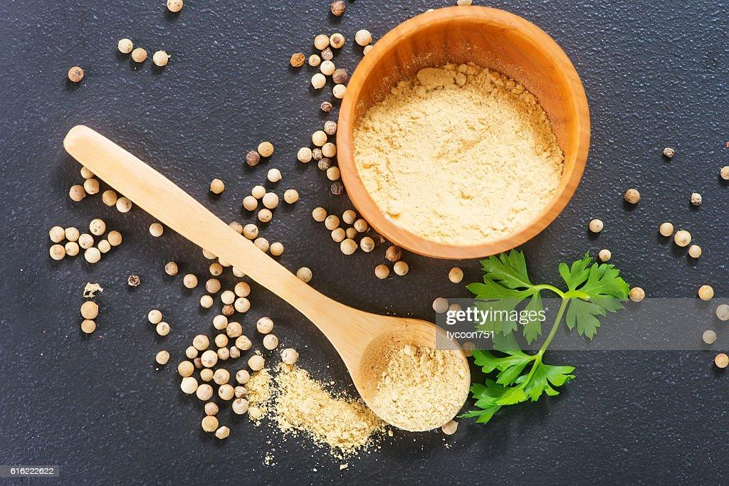 white pepper : Stock Photo