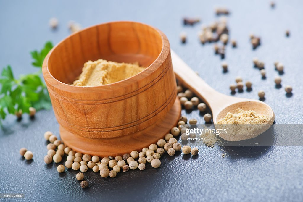 white pepper : Stock Photo