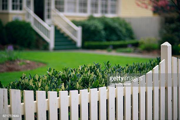 White Picket Fence and Yard