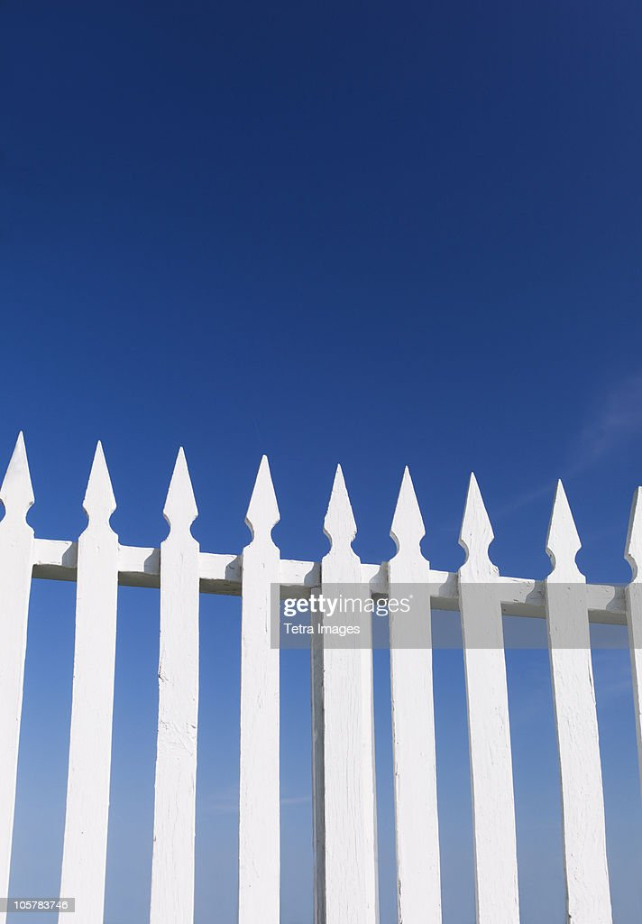 White picket fence : ストックフォト