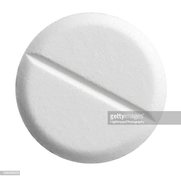 Weiße Tablette