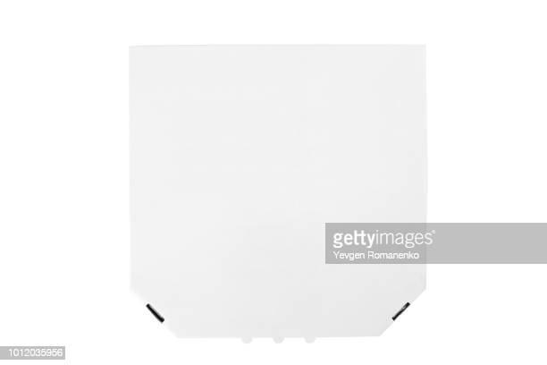 White pizza box template on white background