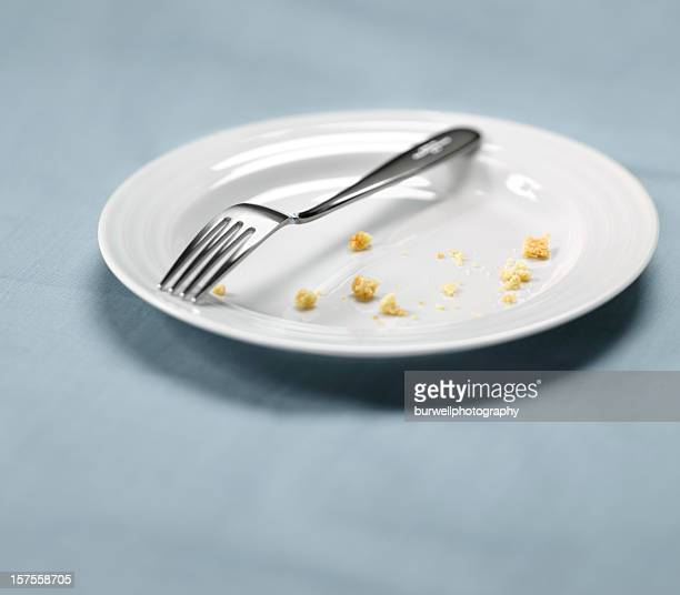 White Plate with Crumbs, Satisfied meal