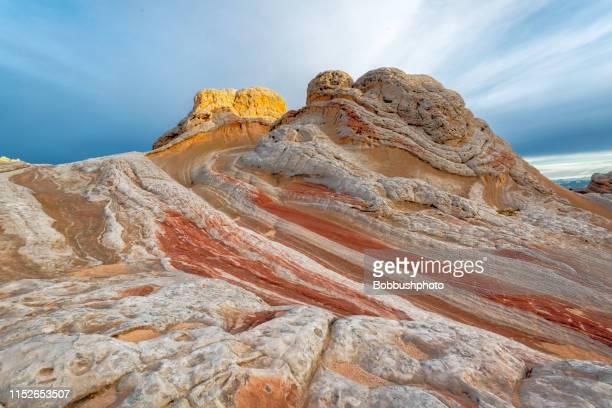 white pocket, vermillion clifffs national monument - vermilion cliffs stock pictures, royalty-free photos & images