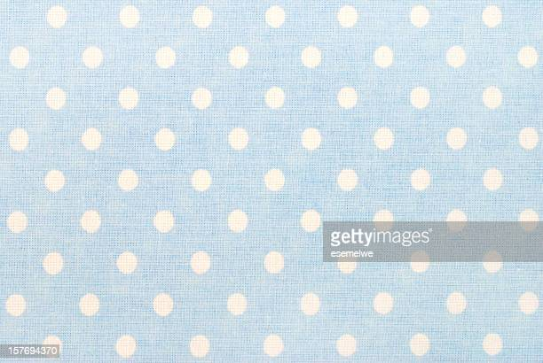 white polka dots on blue - spotted stock pictures, royalty-free photos & images