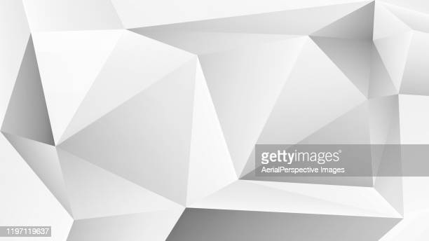 white polygons abstract background - precious gemstone stock pictures, royalty-free photos & images