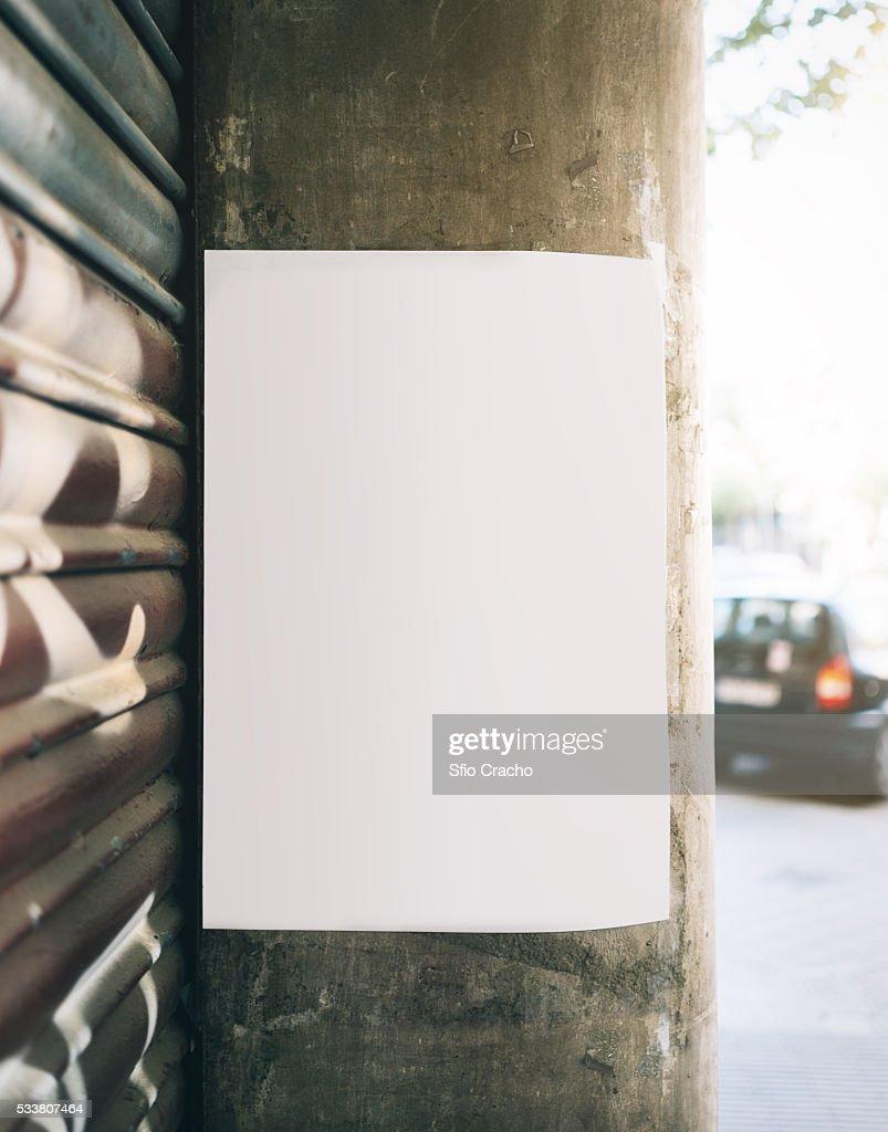 White poster : Foto stock
