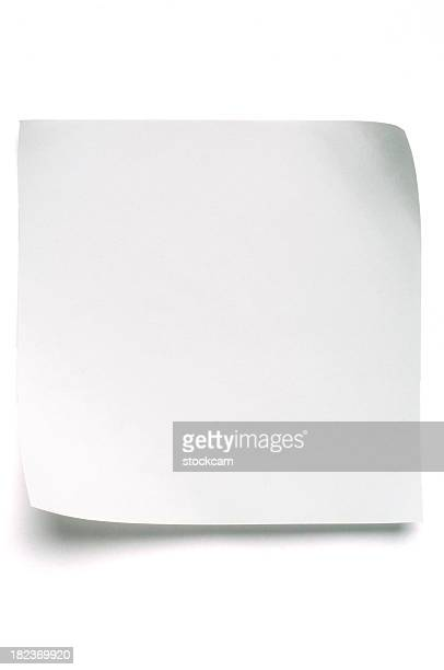 White Post-it Note Paper