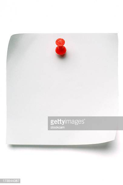 White Post-it-Zettel mit Push-Pin