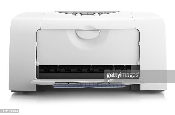 White printer on a white background