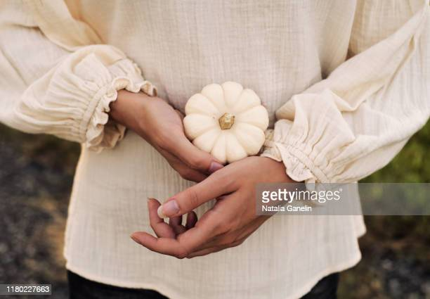 white pumpkin - long sleeved stock pictures, royalty-free photos & images