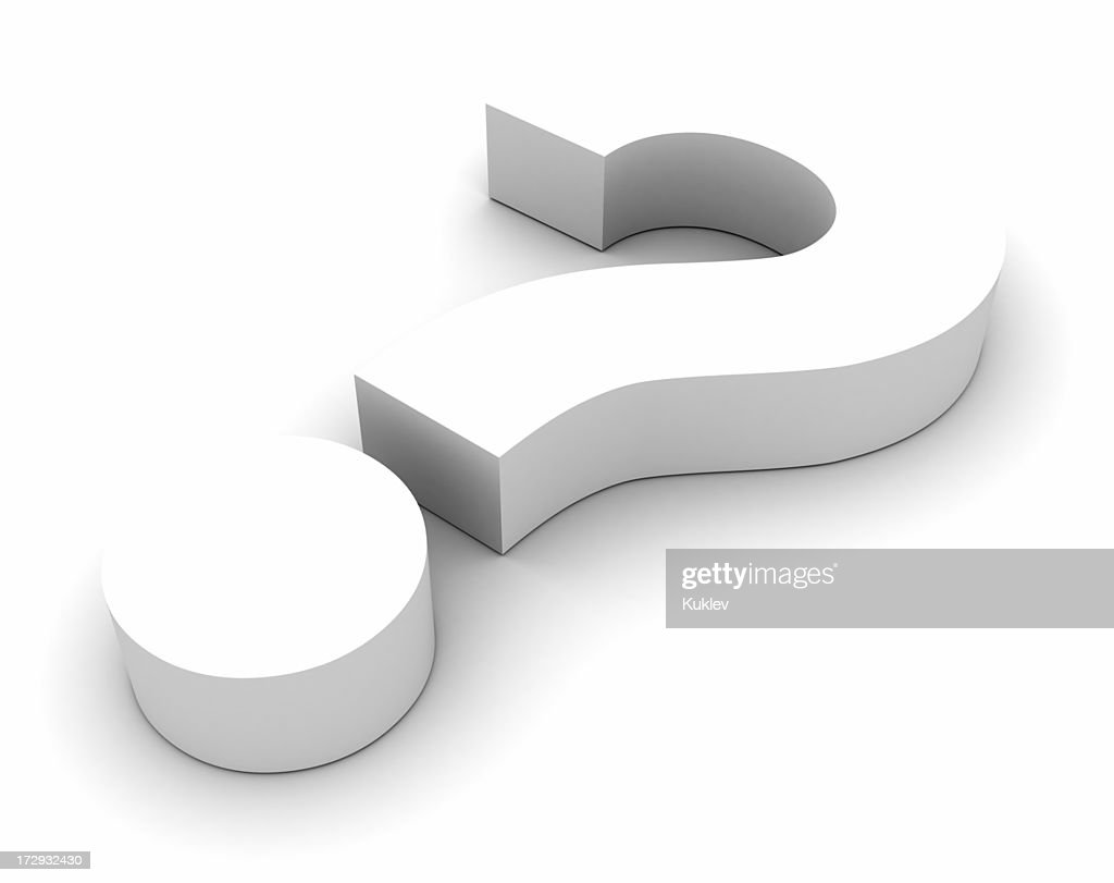 Frage Symbol Weiß : Stock-Foto