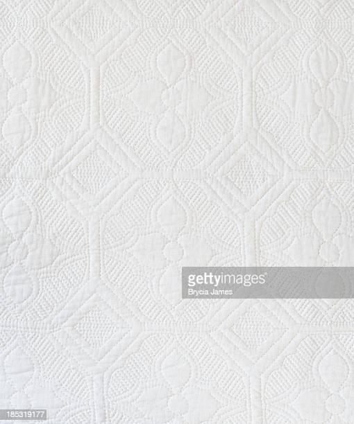 白いキルト背景/の質感