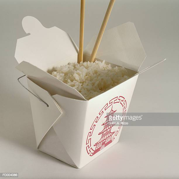 White Rice in Take-Out Box