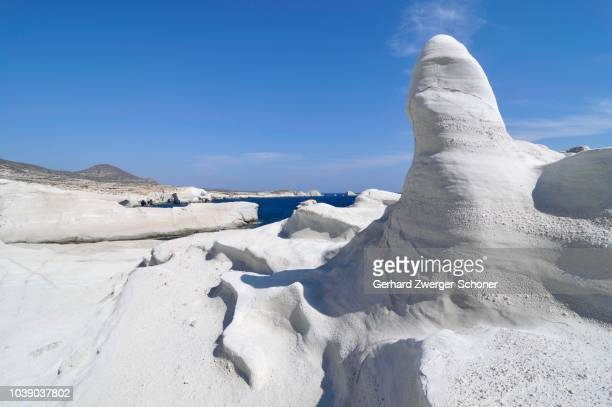White rock forms at Sarakiniko Beach, Milos, Cyclades, Greece