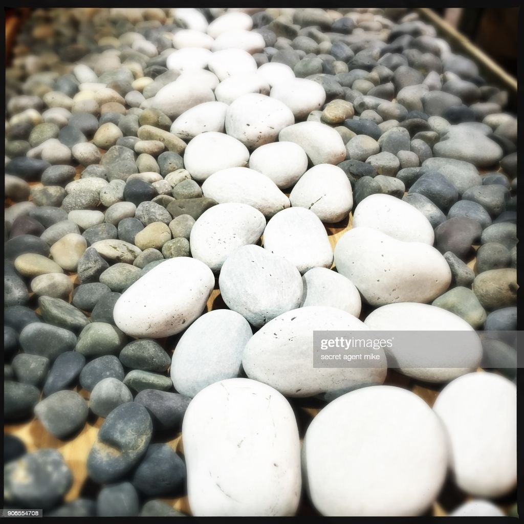 White Rocks In Garden : Stock Photo