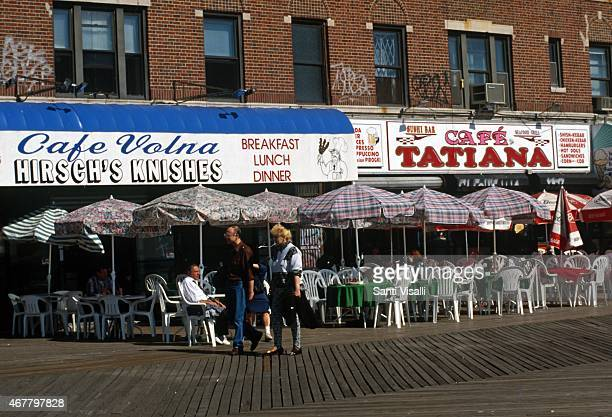 White Russians outdoor cafe' on June 81988 in Brighton Beach New York