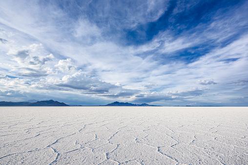 White Salt Flats near Salt Lake City, Utah 540130868