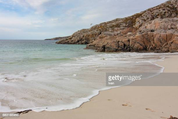White Sand Beach at Achmelvich Bay, Scotland, UK