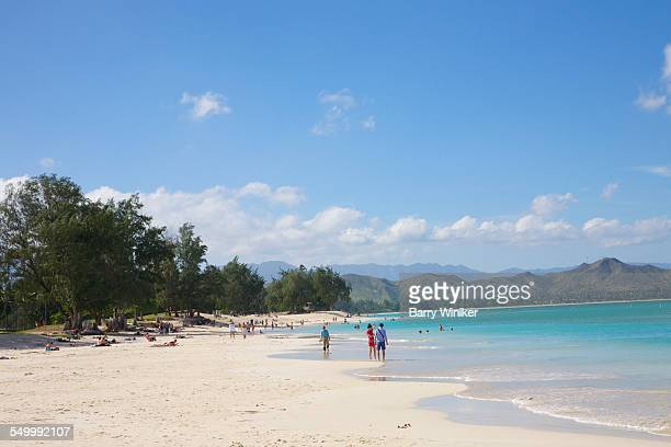 White sand beach, Kailua, Oahu