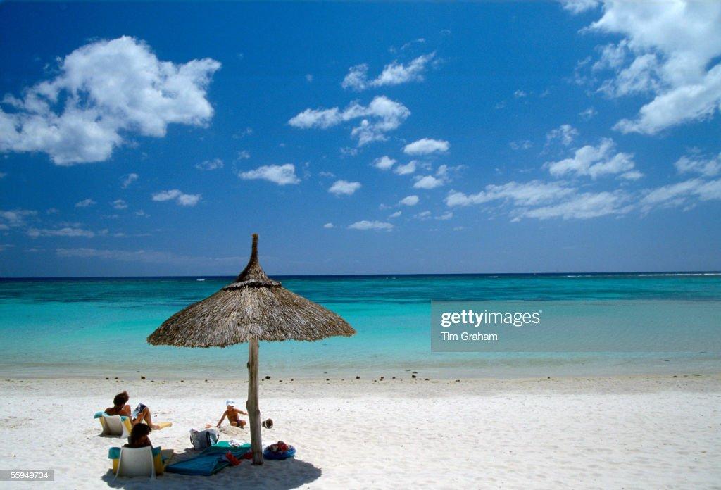 White Sand Beach, Mauritius : News Photo