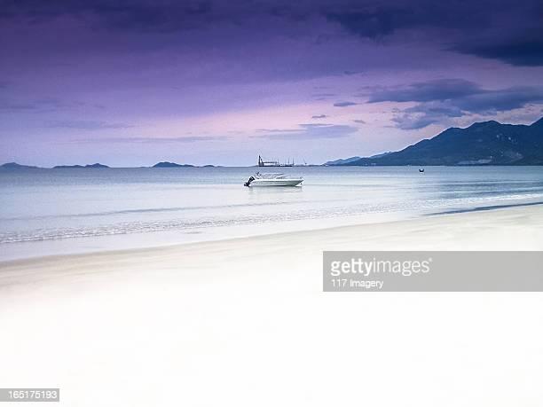 White sand beach near Nha Trang, Vietnam