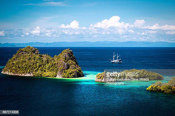 White sand beaches and pristine reefs of the Raja Ampat islands, West Papua, Indonesia