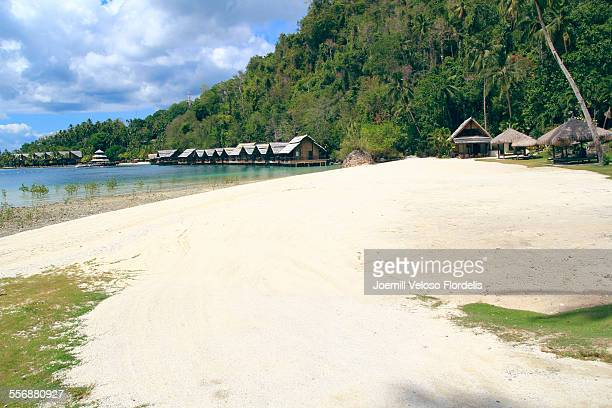 white sands: pearl farm beach resort, philippine - davao city stock photos and pictures