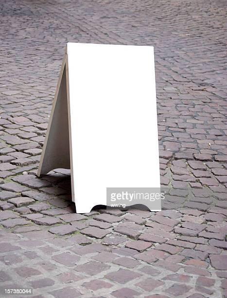 White Sandwich Board