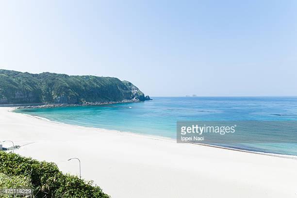 White sandy beach and blue sea, Izu Islands