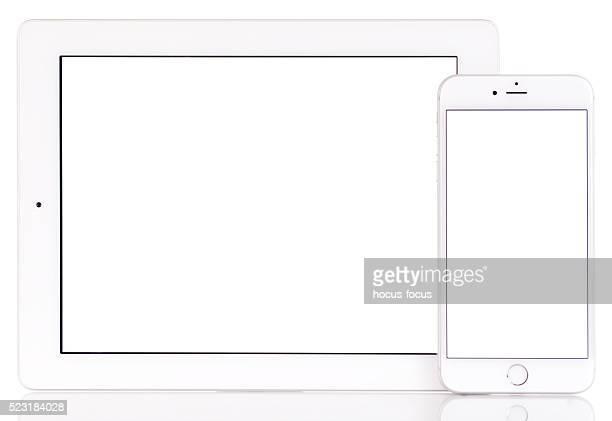 白い画面の 計算されました。 と iPhone 6 プラス