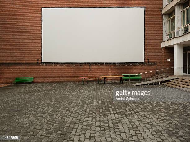 White screen outdoors