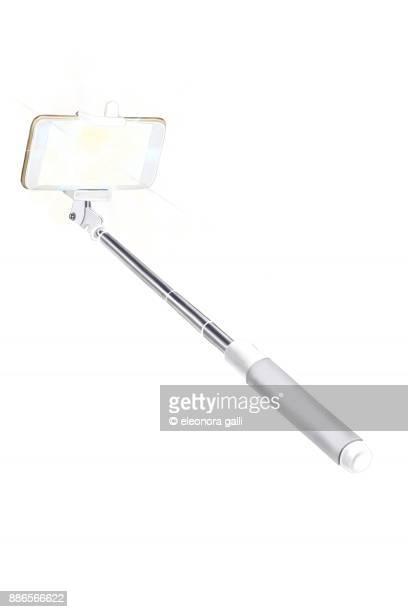 white selfie stick