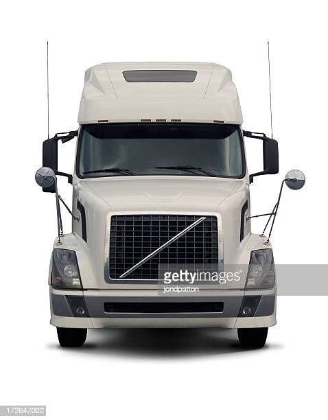 white semi truck  2 - front view stock pictures, royalty-free photos & images