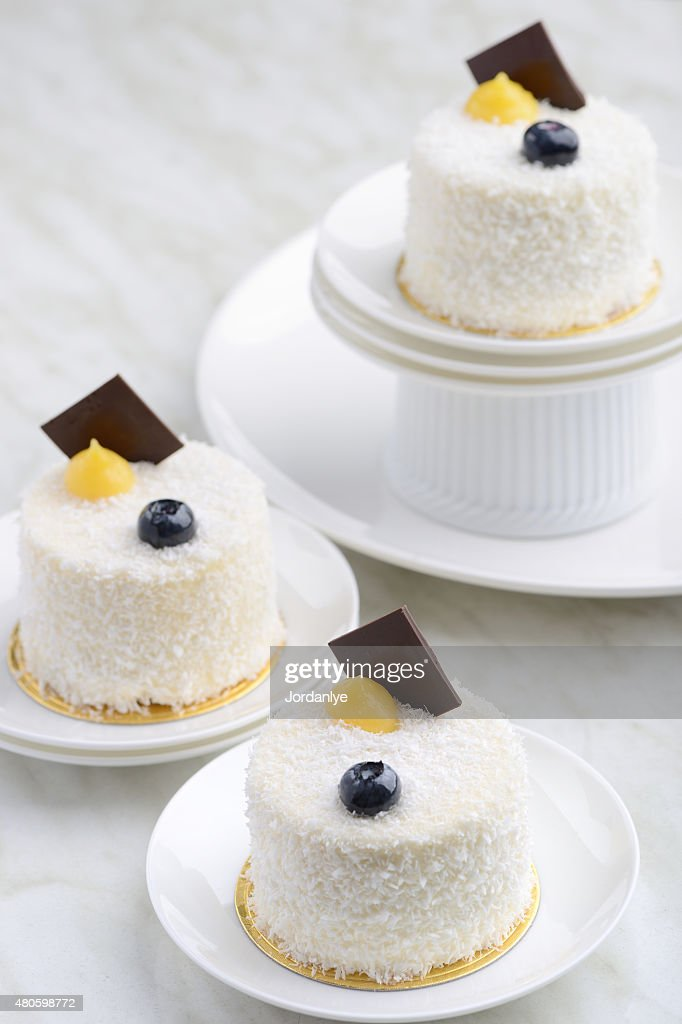 White Sesame Dessert Cake : Stock Photo